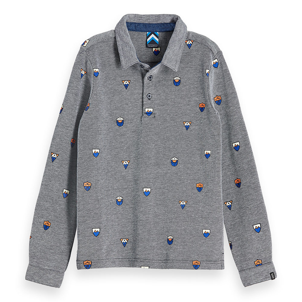 Scotch & Soda jongens polo blauw