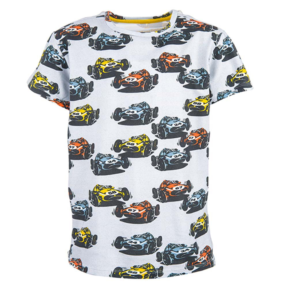 Stones and Bones jongens shirt Oscar Comic Cars grijs