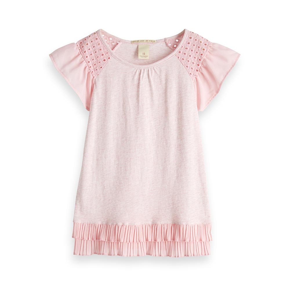 Scotch R'Belle meisjes shirt 149544 roze