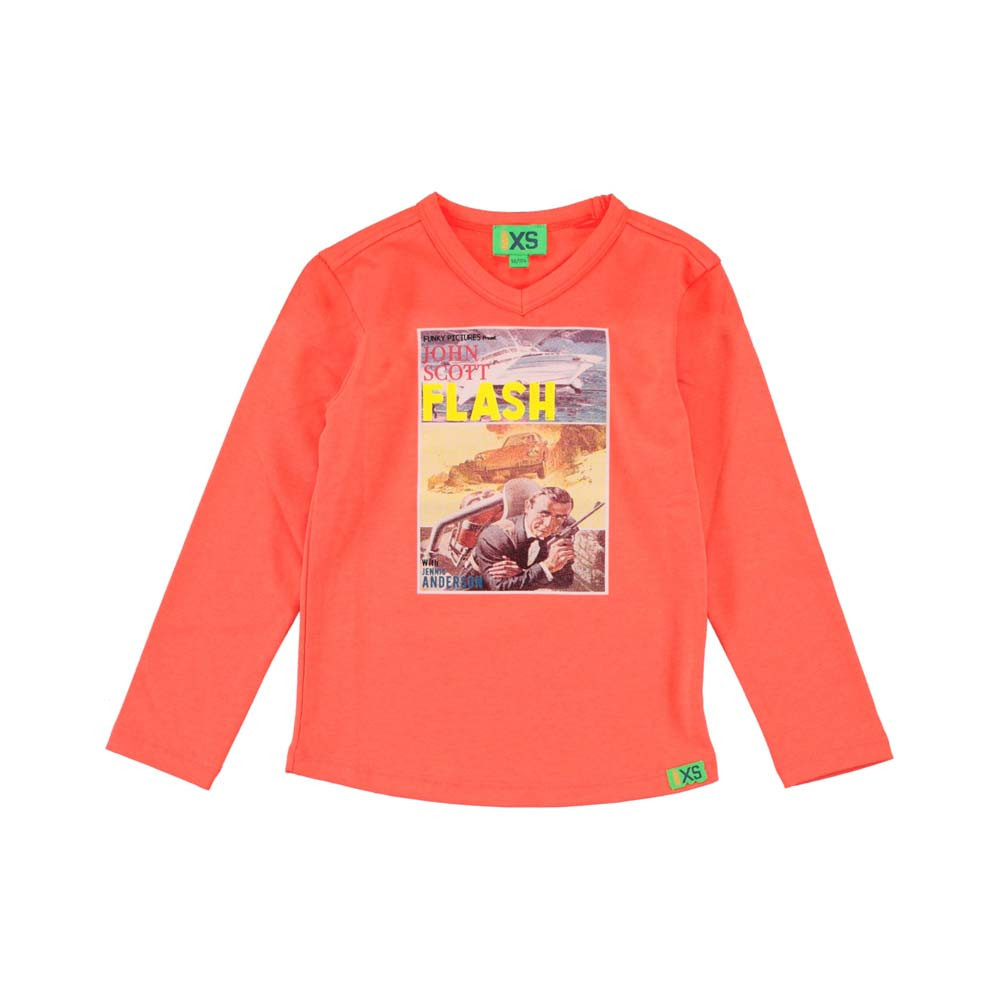 Funky XS jongens shirt Movie oranje