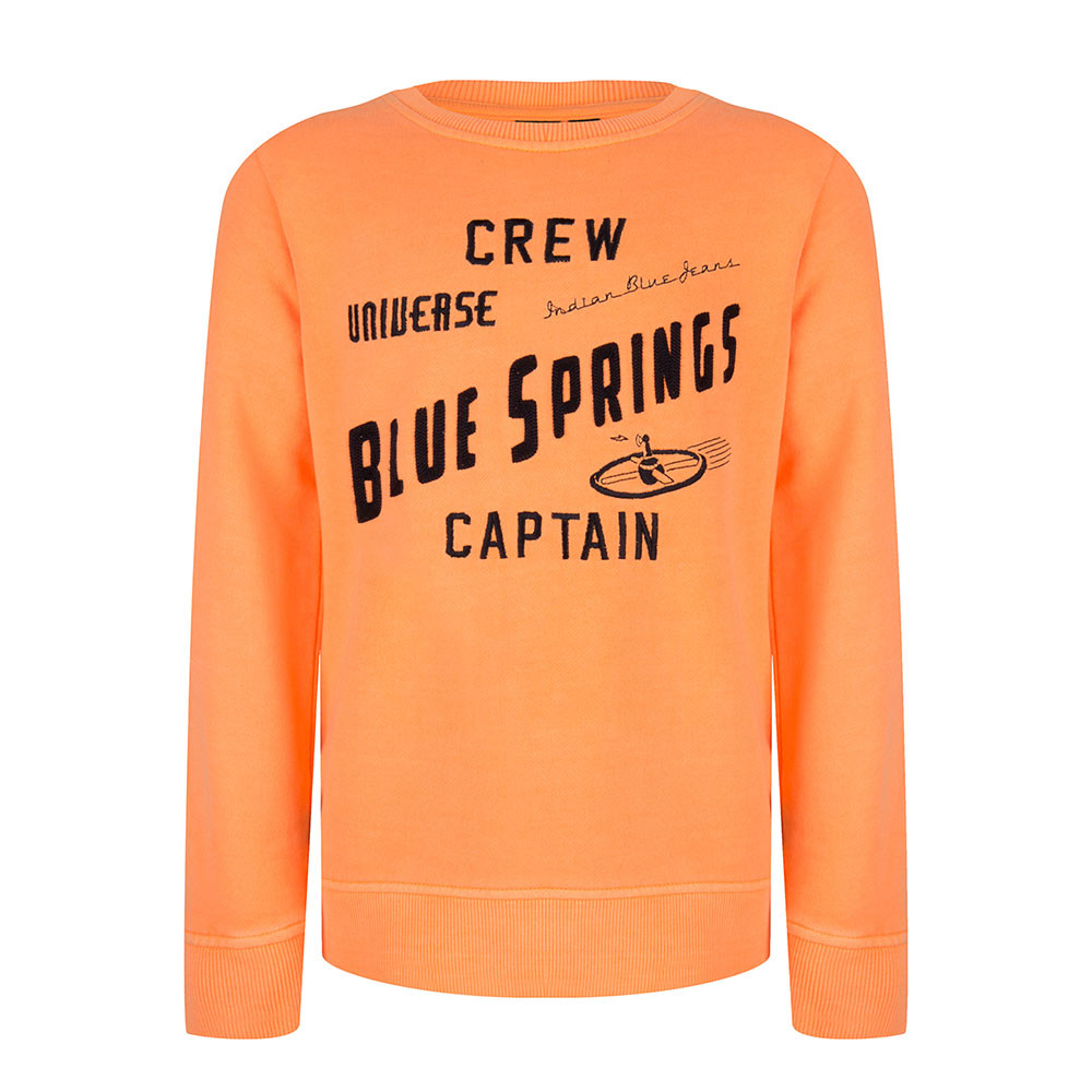 Indian Blue Jeans sweater Crew Captain oranje