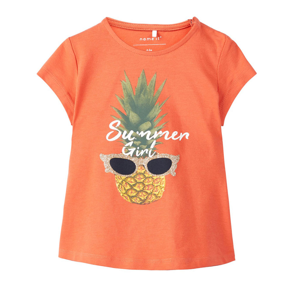 Name It meisjes shirtje Nbfjappa oranje