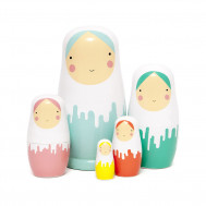 Petit Monkey babushka Dripped dolls