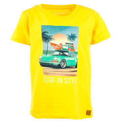 Stones and Bones jongens shirt Russell Surf geel