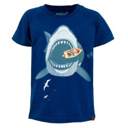 Stones and Bones jongens shirt Georges Fishing blauw