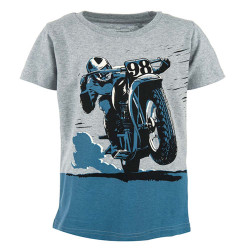Stones and Bones jongens shirt Russell Comic Bike grijs