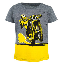 Stones and Bones jongens shirt Russell Comic Bike blauw