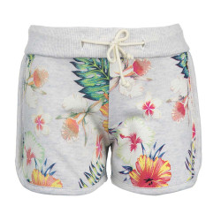 Stones and Bones meisjes sweatshort Pauline Flowers wit