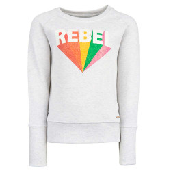 Stones and Bones meisjes sweater Daisies Rebel wit