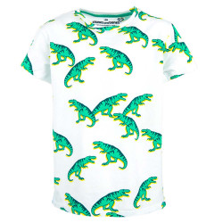 Stones and Bones jongens shirt Oscar T-Rex pack wit
