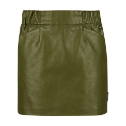 Retour leatherlook rok