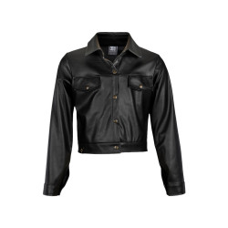 Kie stone leatherlook jack