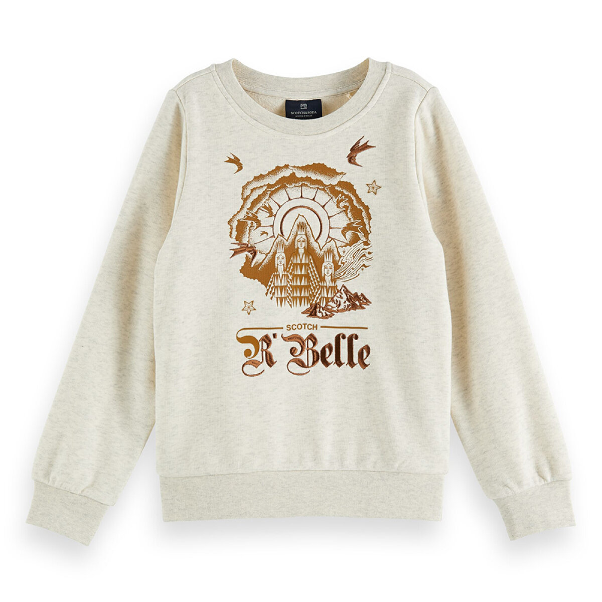 Scotch & Soda meisjes sweater 160195 ecru