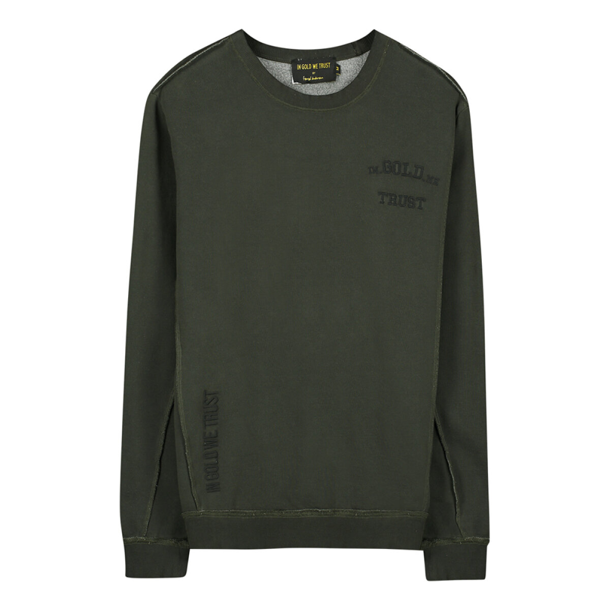 In Gold We Trust sweater IGWTKIDSS-007/KIDSREAKWON groen