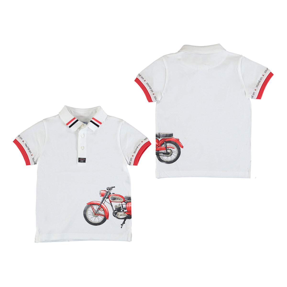 Mayoral jongens polo shirt 3108 wit