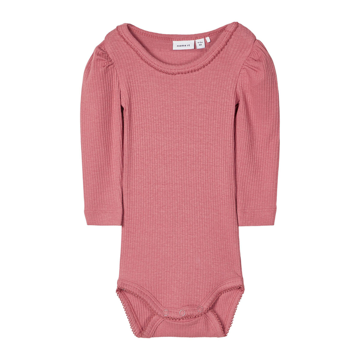 Name It meisjes romper 13187459/NBFKABEXI/WitheredRose roze