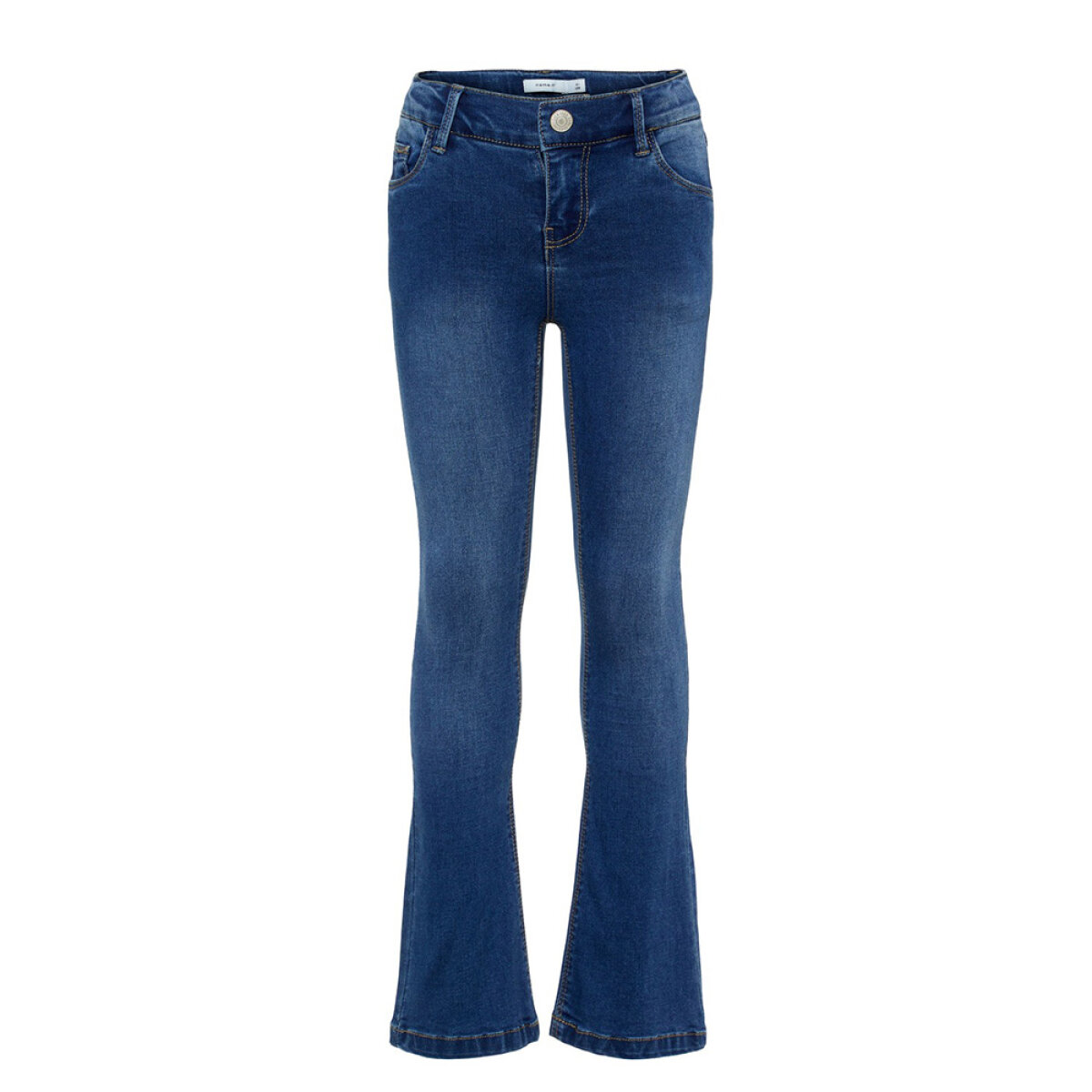 Name It meisjes skinny flaired jeans NKFPOLLY blauw