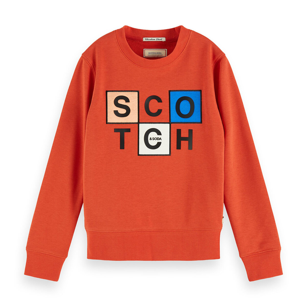 Scotch & Soda jongens sweater 154806 oranje