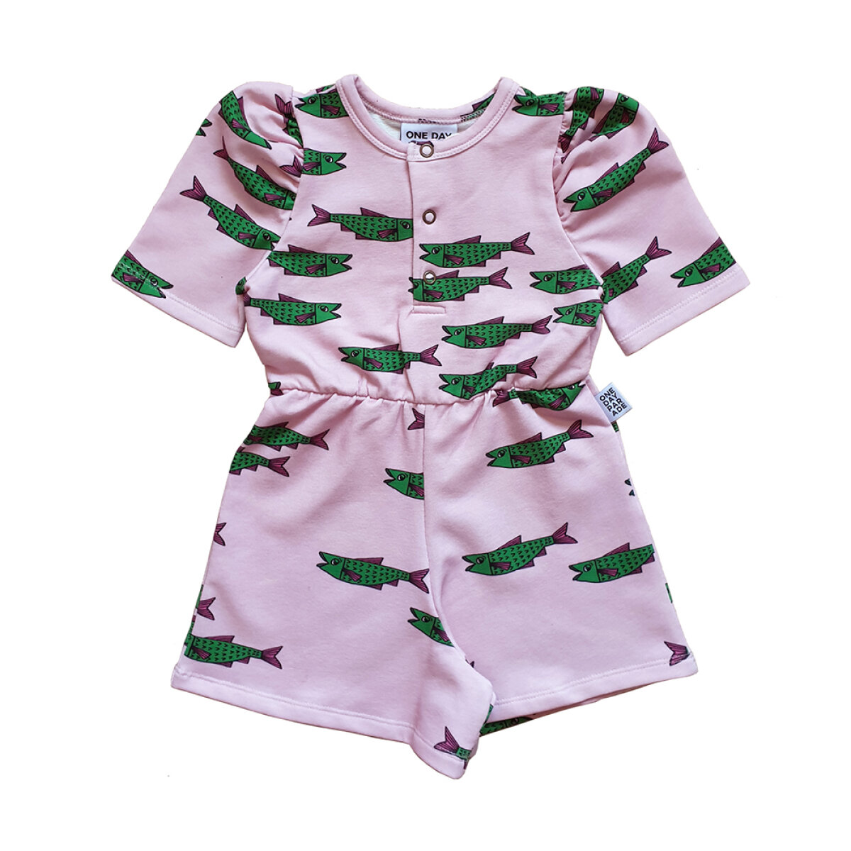 One Day Parade meisjes playsuit PINKFISHAOP roze