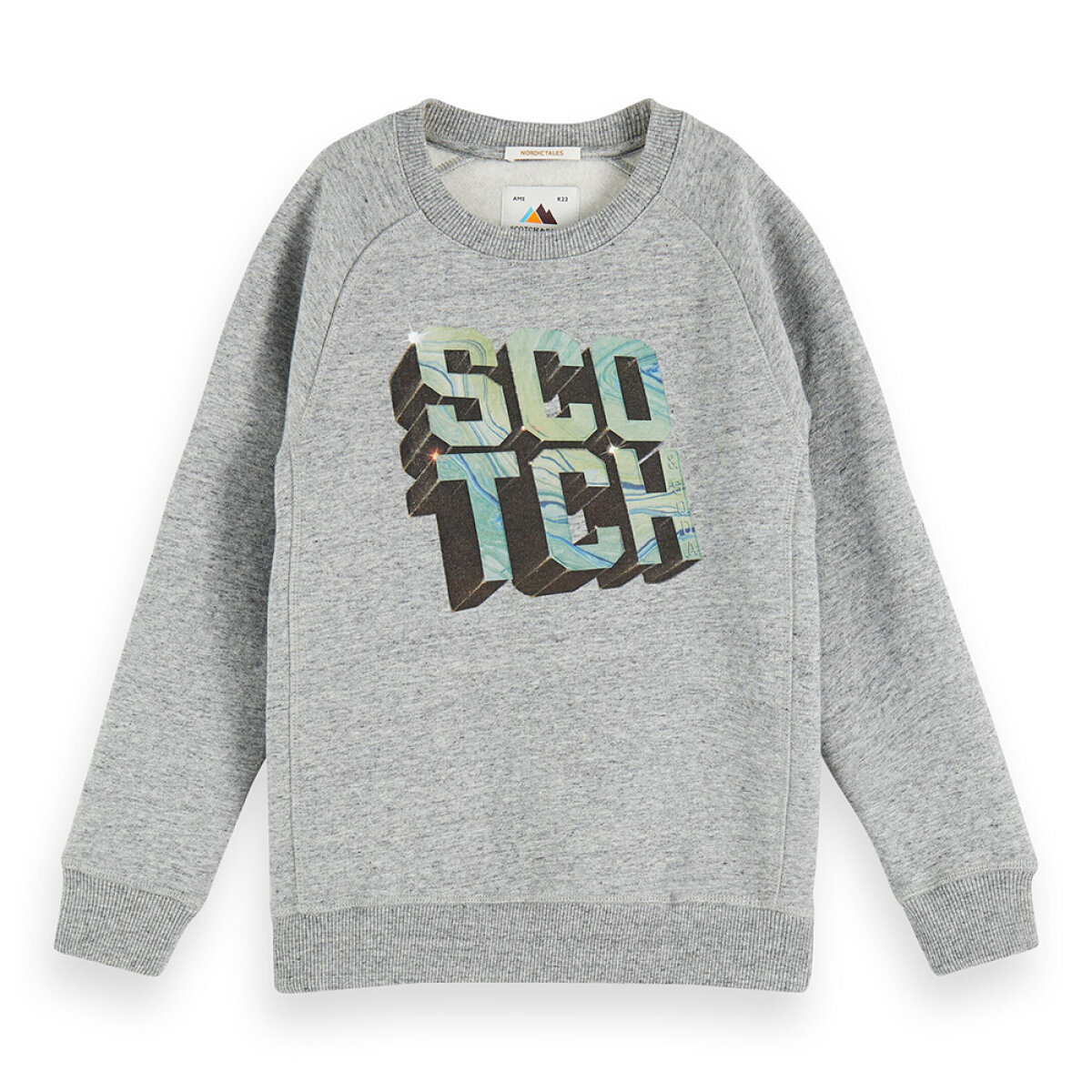 Scotch & Soda jongens sweater 157690 grijs