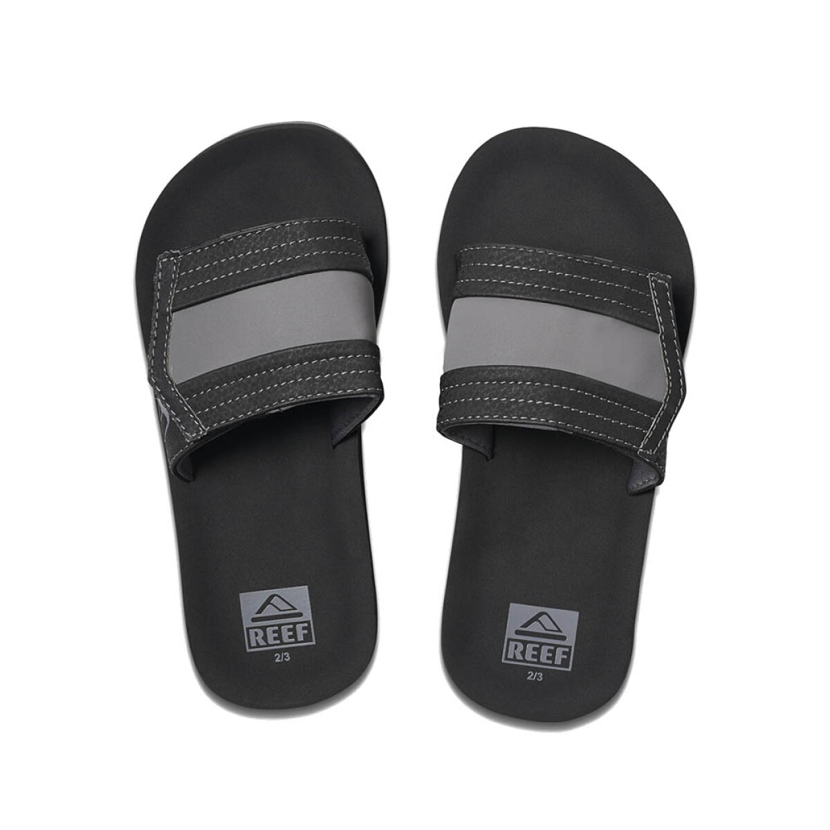 Reef jongens slippers Ahi Slide zwart
