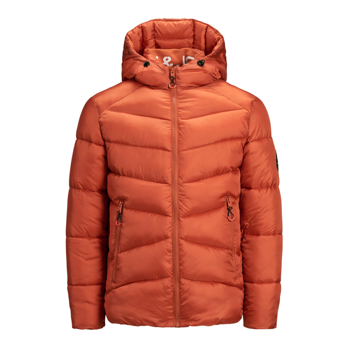 Jack & Jones Junior jongens winterjas 12177064 oranje