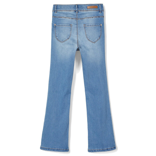 Name It meisjes skinny flared jeans NKFPOLLY2460 blauw