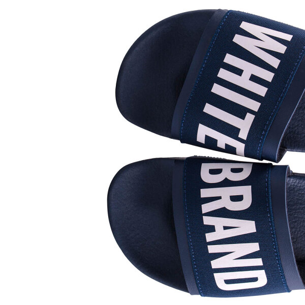 The White Brand unisex slippers Elastic blauw
