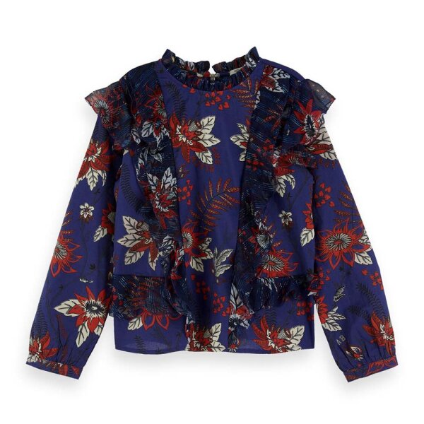 Scotch R'Belle blouse 154192 blauw
