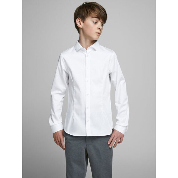 Jack & Jones Junior jongens overhemd JPRPARMA wit