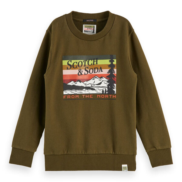 Scotch & Soda jongens sweater 157710/0360 groen