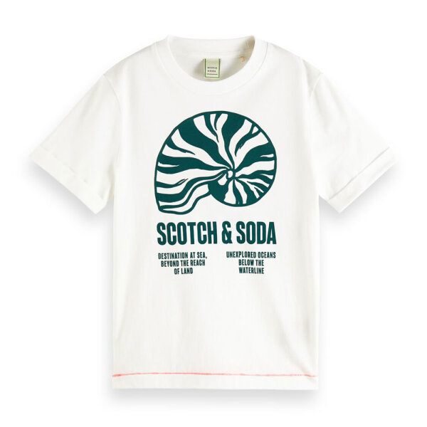 Scotch & Soda jongens shirt 162222 offwhite