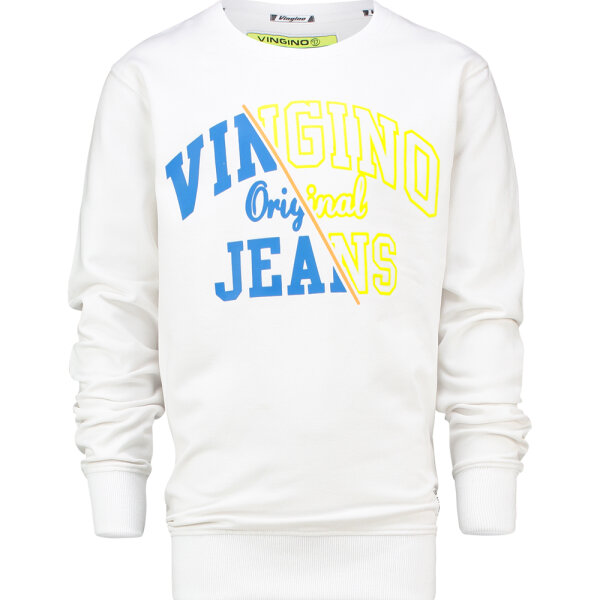 Vingino jongens sweater Neone wit
