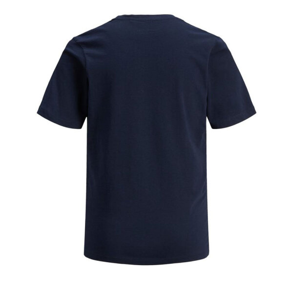Jack & Jones Junior jongens shirt JJECORPLOGOTEESS blauw