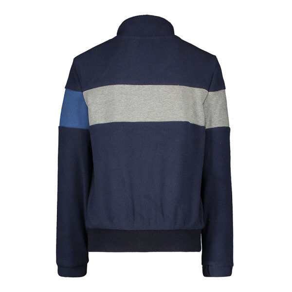 Moodstreet jongens fleece sweater M008-6389 blauw
