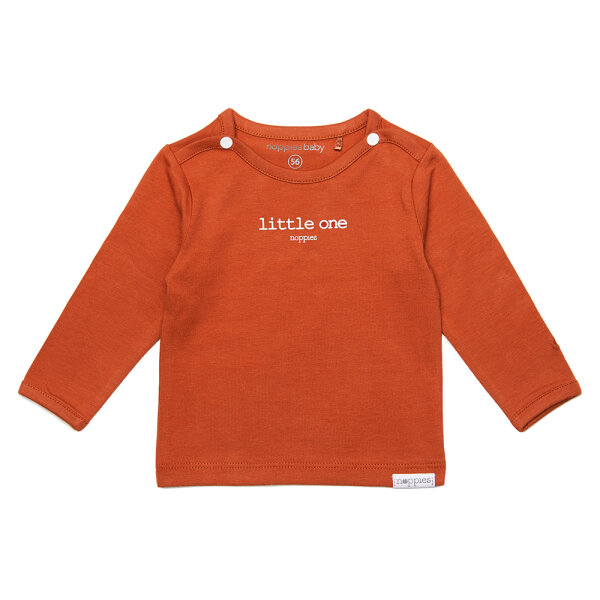 Noppies newborn basic shirtje Hester roodbruin
