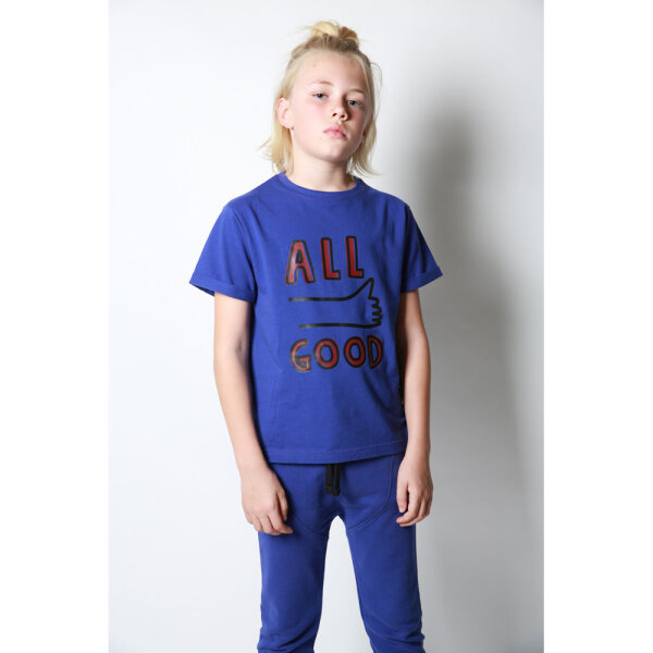 COS I SAID SO jongens shirt ALLGOOD blauw