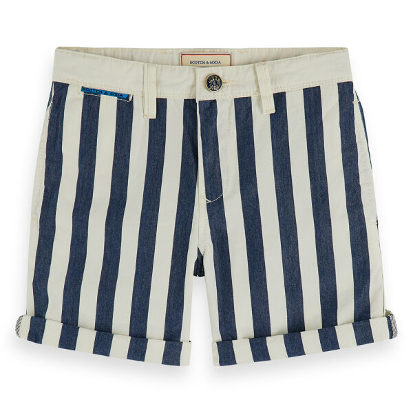 Scotch & Soda jongens chino short 154625 blauw