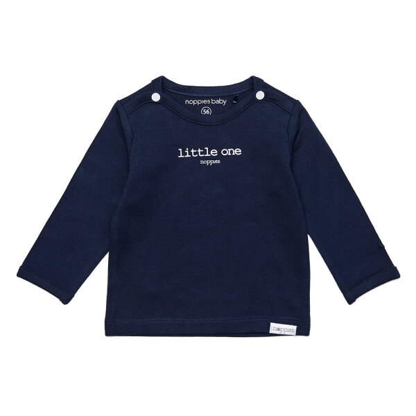 Noppies newborn basic shirtje Hester blauw