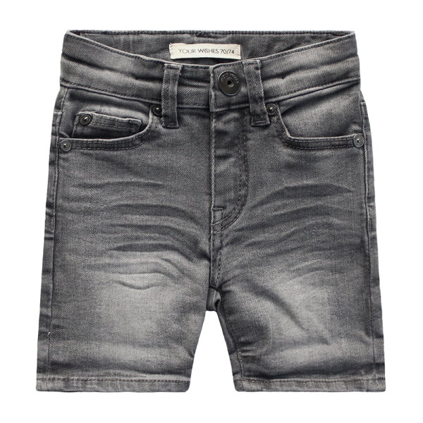 Your Wishes unisex jeansshort YWSU21-246DO grijs