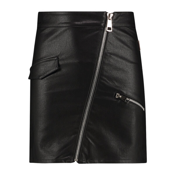 AI&KO leatherlook rok PATOU zwart