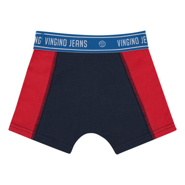 Vingino jongens boxershort B1233Striped2Pack/DarkBlue blauw