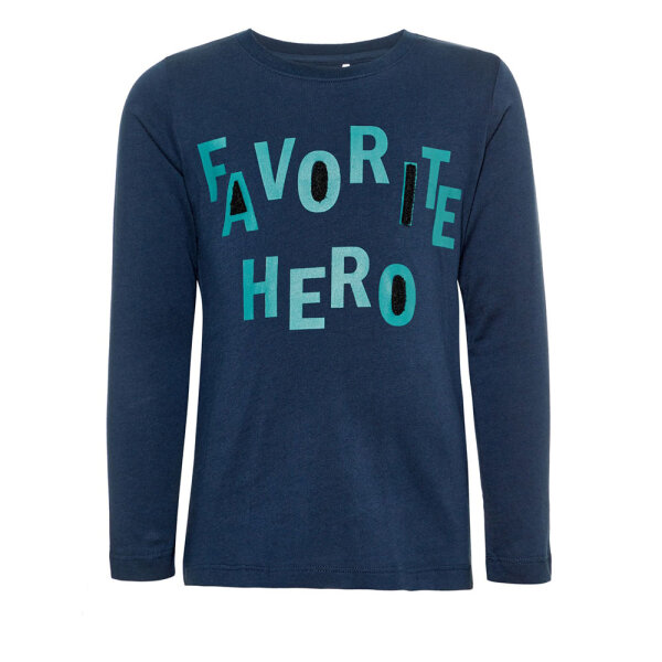 Name It jongens shirt NMMAVENGERSLSTOP blauw